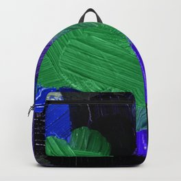36    | Abstract Expressionism| 210210| Digital Abstract Art Textured Oil Painting Backpack