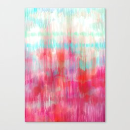 Color Song - abstract in pink, coral, mint, aqua Canvas Print