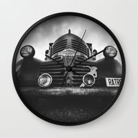 rat Wall Clocks featuring The rat by HappyMelvin