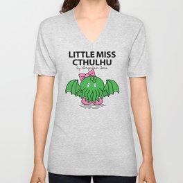 Little Miss Cthulhu Unisex V-Neck