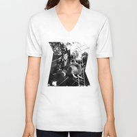 jfk V-neck T-shirts featuring A Photograph of JFK on an Elephant by J.G.