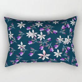 Beautiful pattern design with flowers in vintage style Rectangular Pillow