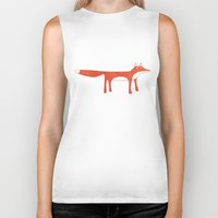 mr fox Biker Tanks featuring Mr Fox by Nic Squirrell