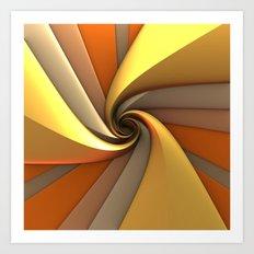 Tri-Gold Spiral Art Print