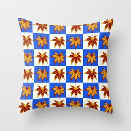 Patchwork Autumn Throw Pillow