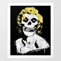 misfits Art Prints featuring Misfits Monroe by AtomicChild