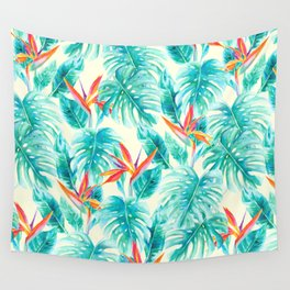 Tropical Paradise Pale Yellow Wall Tapestry