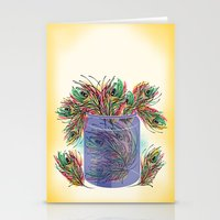 feathers Stationery Cards featuring Feathers by famenxt