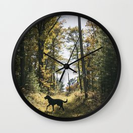 A Walk with Charlie Wall Clock