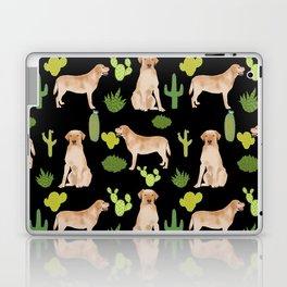Labrador Retriever yellow lab cute cactus southwest pet portrait dog breed desert Laptop & iPad Skin