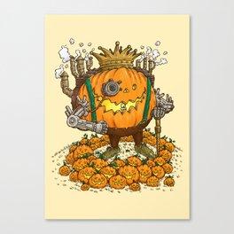 The Steampunk Pumpking Canvas Print