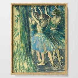 """Edgar Degas """"Groupe de danseuses (décor d'arbres)"""" Serving Tray"""