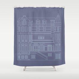 Very Royal - Blueprint Shower Curtain