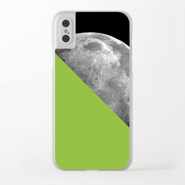 Half Moon Lime Green Clear iPhone Case