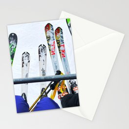 Ski All Day Stationery Cards