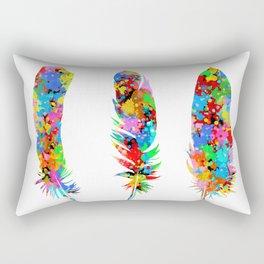 colorful feathers Rectangular Pillow