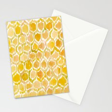 Golden Honeycomb Stationery Cards