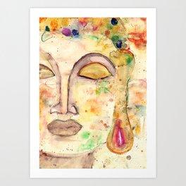 Watercolor Buddha Art Print