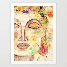 Watercolor Buddha Art Print