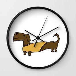 Dacshund with Sweater Wall Clock