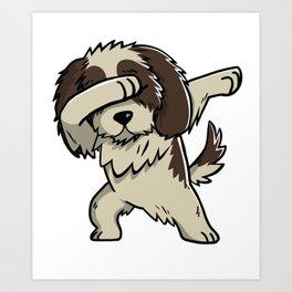 Dabbing Shih Tzu Dog Dab Dance Art Print