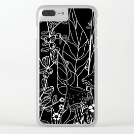 The woods at night . Toadstools and blueberries . Clear iPhone Case
