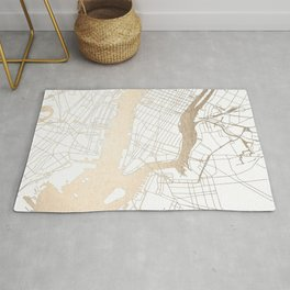 New York City White on Gold Rug
