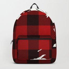 Michigan is Home - Buffalo Check Plaid Backpack