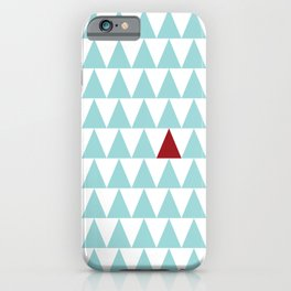 Vibrant Triangle Pattern iPhone Case