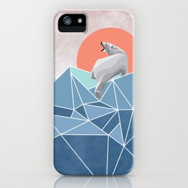 Polar Bear live in North Pole iPhone Case