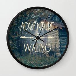 Adventure Is Waiting Wall Clock