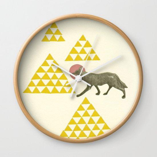 Mountain Wolf Wall Clock