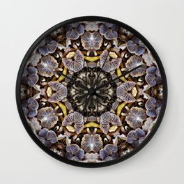 Mushroom Mandala Wall Clock