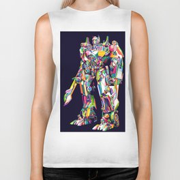 Transformer in pop art Biker Tank