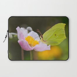 Yellow butterfly on a flower Laptop Sleeve