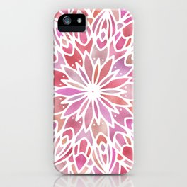 Mandala Pink Gold iPhone Case