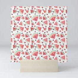 Watermelon popsicles, strawberries and chocolate Mini Art Print