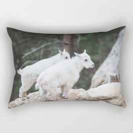 Baby Mountain Goats - Black Hills National Forest Rectangular Pillow