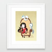 princess Framed Art Prints featuring Princess by Freeminds