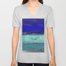 Midnight Waves Seascape Unisex V-Neck