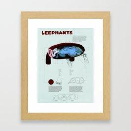 Leephants Framed Art Print