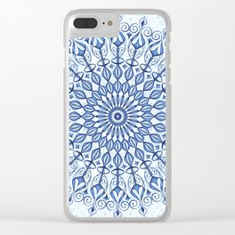 Mandala in  blue Clear iPhone Case