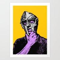 mf doom Art Prints featuring Doom by Blake Lee Ferguson