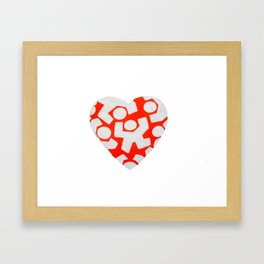 Heartbreak Kid Plain  Framed Art Print