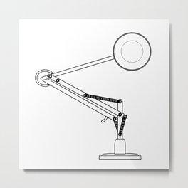 Anglepoise Outline Drawing Metal Print
