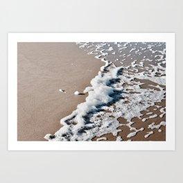 Foam on the beach on the Sunshine Coast Art Print