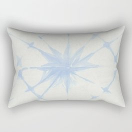 Shibori Starburst Sky Blue on Lunar Gray Rectangular Pillow
