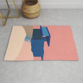 Kaufmann Desert House Blue - Rosé Rug