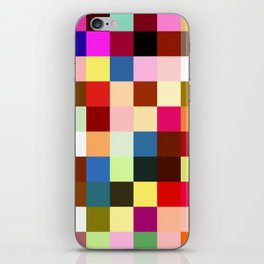 checkered times iPhone Skin