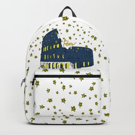 Rome Italy Colosseum Starry night Backpack